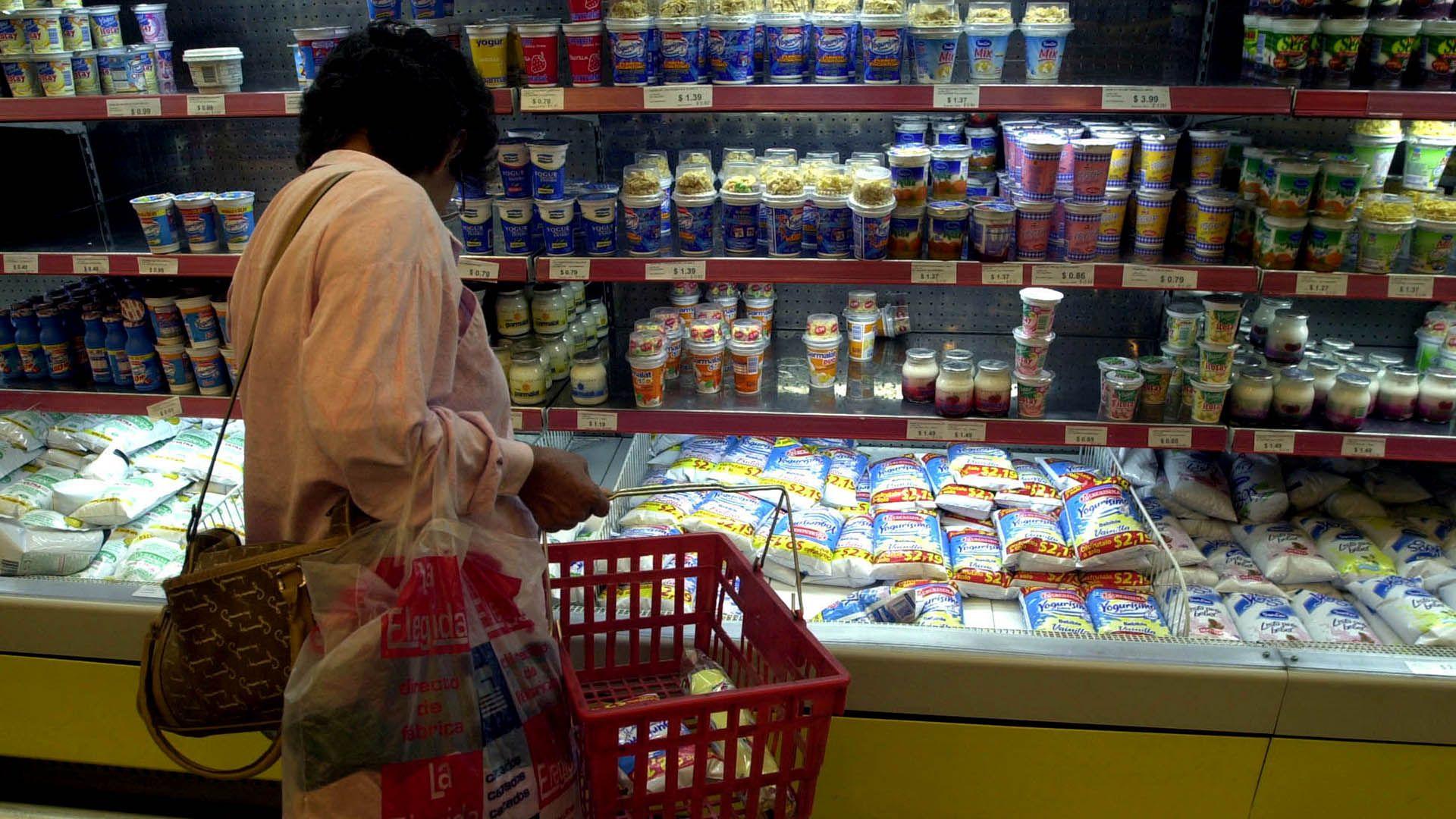lacteos leche yogur gondola inflación precios