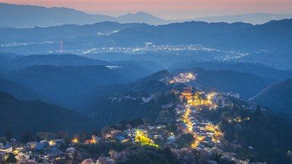 El monte Yoshino se ubica en el homónimo pueblo en Nara, Japón (istock)