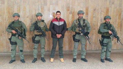 """Gustavo Hernán Sepúlveda, alias """"Máscara"""", tras su arresto"""