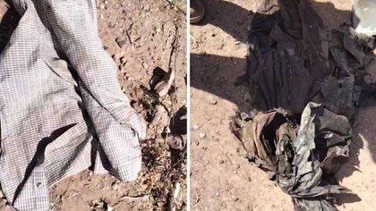 Camisas, zapatos, basura, y restos humanos estaban en las inmediaciones (Foto: Facebook/Madres Buscadoras de Sonora)