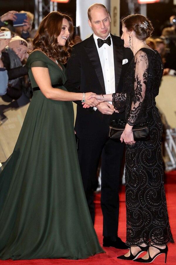 El príncipe Williamy su esposa Kate Middleton asistieron a la ceremonia