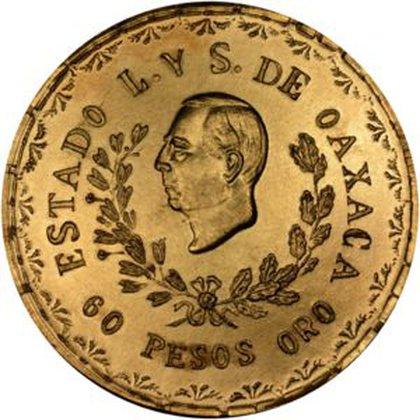 Moneda de 60 pesos (Foto: Colnect)