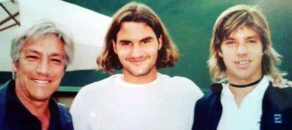 Una foto del 2003 con Federer (Foto: @horaciozeballos)