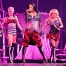 (EXCLUSIVE, Premium Rates Apply) NEW ORLEANS - MARCH 03: (L-R) Singers Melody Thornton, Kimberly Wyatt, Nicole Scherzinger, Ashley Roberts and Jessica Sutta of the Pussycat Dolls perform onstage during