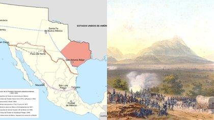 Pérdida de territorio mexicano tras el Tratado de Guadalupe Hidalgo (Fotos: Wiki Commons)
