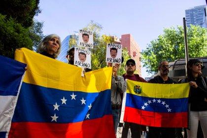 Los venezolanos tardaron en llegar, pero cuando lo hicieron marcaron presencia (Foto: Gibrán Casas)