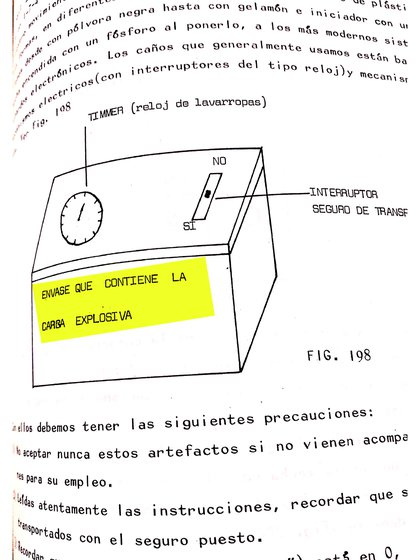 Así explicaba la cúpula de Montoneros a fabricar bombas caseras en su manual de combate y entrenamiento militar.