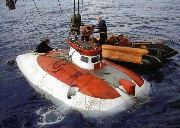 Uno de los dispositivos tripulados que se sumergen hasta una profundidad de 6 mil metros