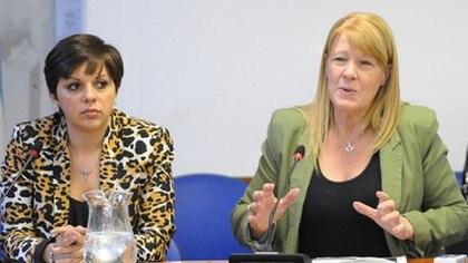 Silvina Martínez y Margarita Stolbizer