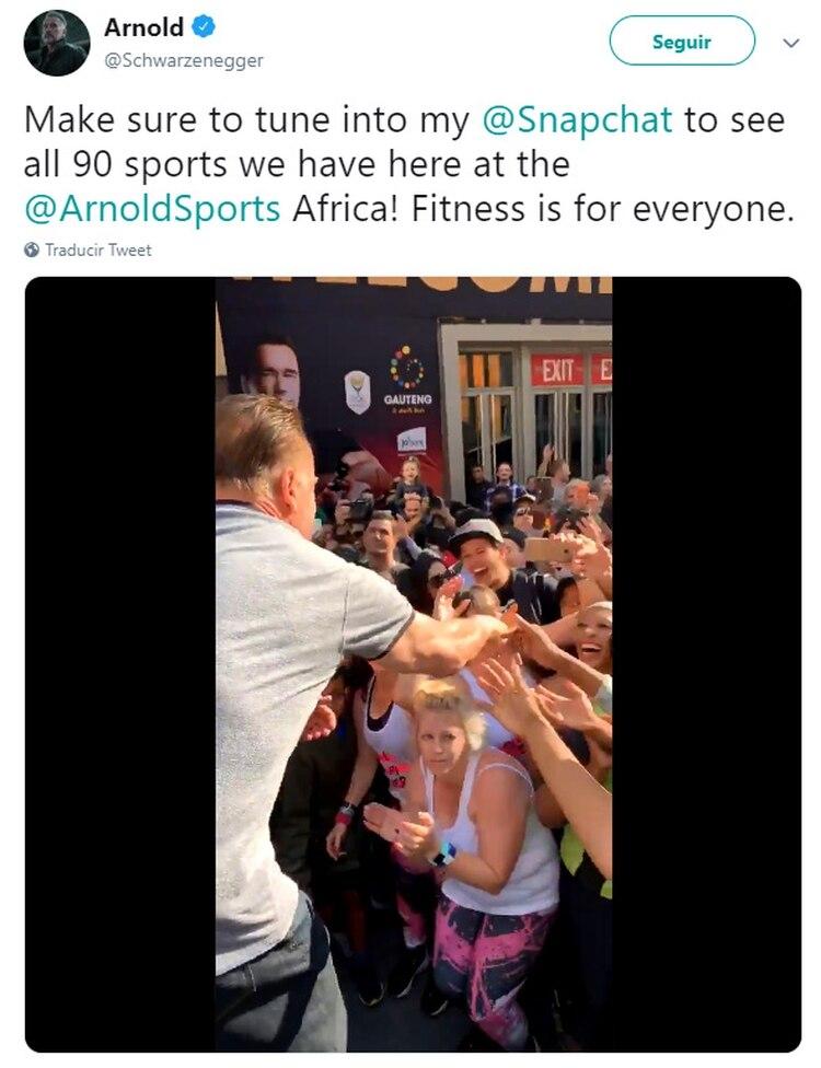 El hombre que atacó al actor ya fue detenido (Foto: Twitter/Schwarzenegger)