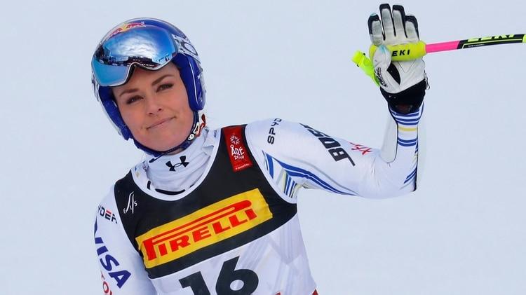Lindsey Vonn se ha retirado del esquí como la más ganadora de todos los tiempos (REUTERS)