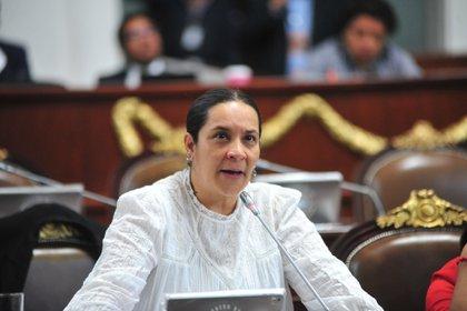 Valentina Batres negó las acusaciones hechas por su compañero del Congreso de la CDMX señalando que su falta de conocimientos tecnológicos la hizo cometer un error (Foto: Twitter@GPMorenaCdMex)