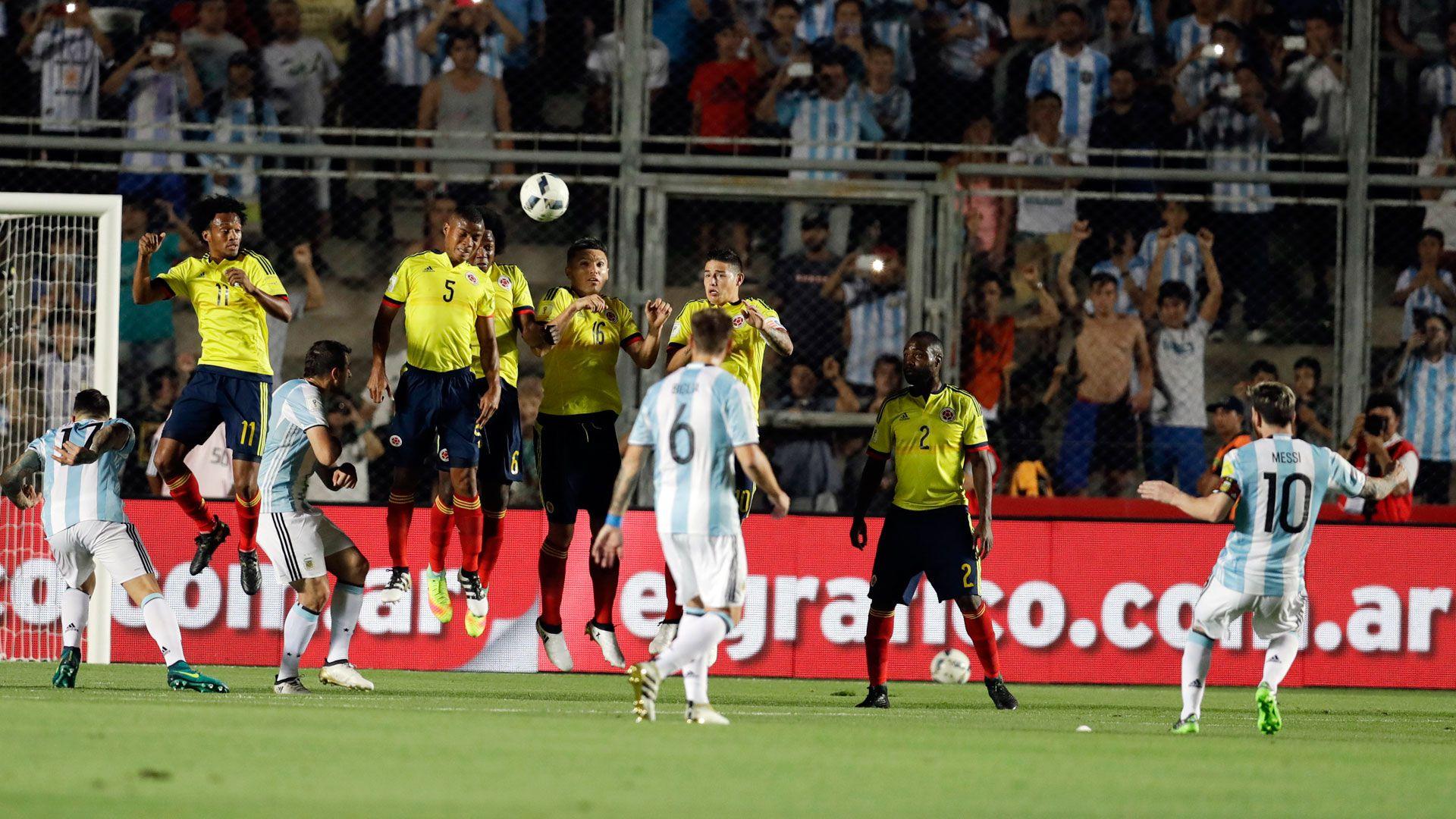 La última vez que Messi le anotó a Colombia fue el 15 de noviembre de 2016 en la goleada 3-0 de Argentina sobre Colombia por las eliminatorias rumbo a Rusia 2018 en San Juan, Argentina / (AP).