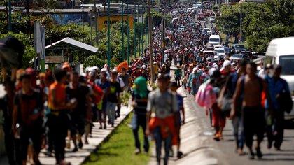 La caravana migrante partió el 12 de octubre desde Honduras(Foto: Reuters)