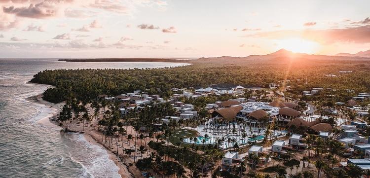 La vista aérea de las 93 hectáreas del Club Med Miches
