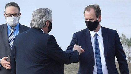 Alberto Fernández y el gobernador Bordet (foto de archivo:  @bordet)