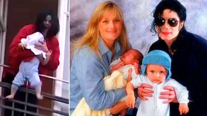 Michael Jackson y los dos hijos que tuvo con Rowe. Una polémica actitud que tuvo con el menor en  una de sus giras