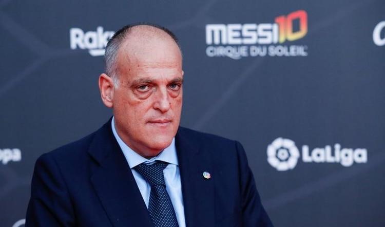 Javier Tebas, presidente de La Liga d eEspaña, salió al cruce por las declaraciones del titular de la FIFA REUTERS/Albert Gea
