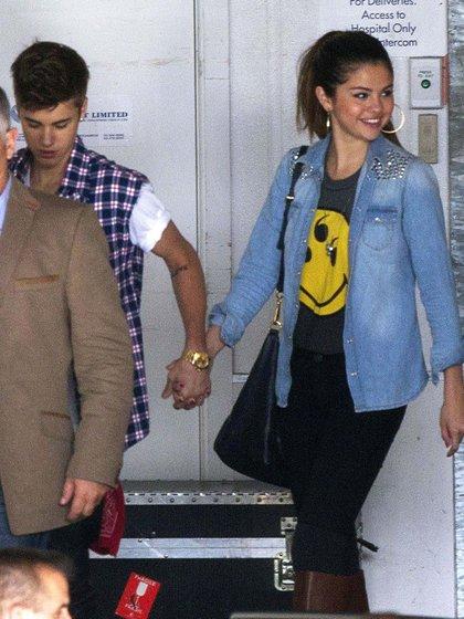 Justin Bieber and Selena Gomez en Nueva Zelanda (2012)