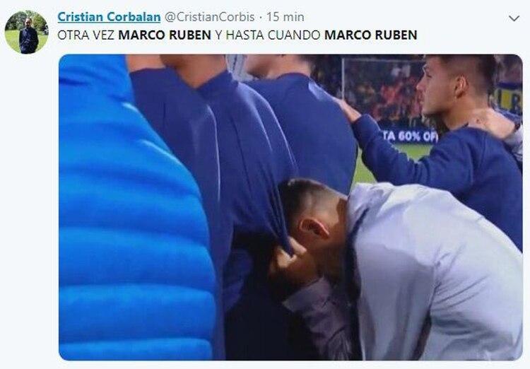 El sufrimiento de Boca por volver a enfrentar a Marco Ruben