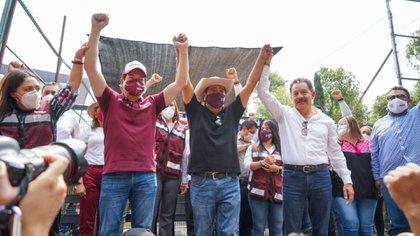 """De las amenazas al """"palomazo"""": Mario Delgado y Salgado Macedonio cantan para recuperar la candidatura de Guerrero"""