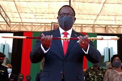 El presidente de Malawi, Lazarus Chakwera, en el día de su investidura en Lilongwe (REUTERS / Eldson Chagara / archivo)