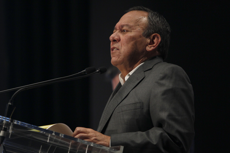 Jesús Zambrano, presidente nacional del PRD, durante conferencia de prensa en el Hotel Hilton, Ciudad de México. Julio 6, 2021. Foto: Karina Hernández / Infobae