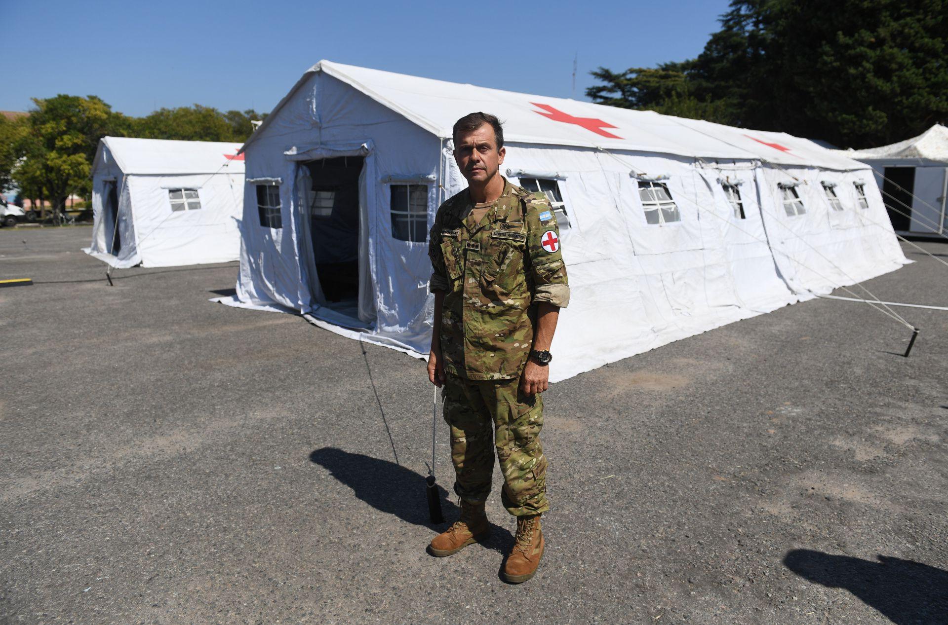 El hospital militar reubicable de Campo de Mayo se abocará a la atención de contagiados de COVID-19 al igual que un hospital similar en Pompeya