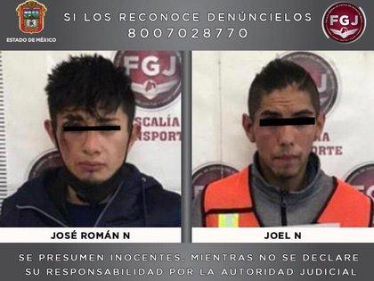 Dos sujetos fueron vinculados a proceso en Ecatepec por robar un camión con tanques de oxígeno (Foto: Twitter@FiscalEdomex)