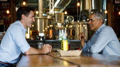Justin Trudeau y Barack Obama (Reuters)