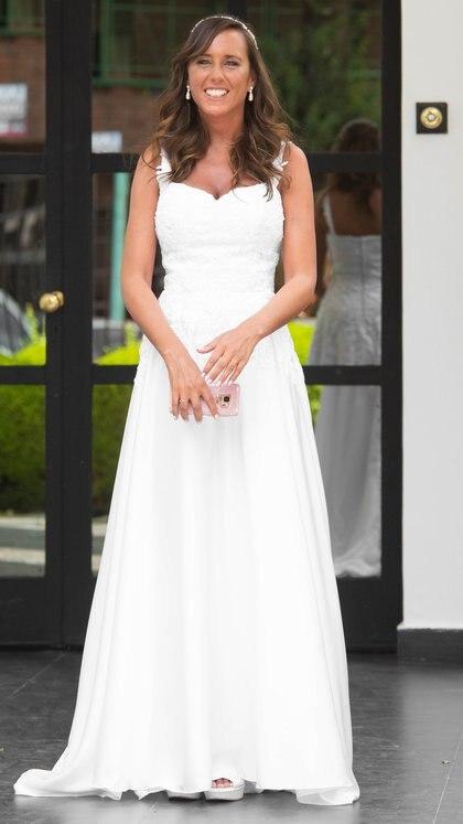 El vestido de novia de Estefanía Pasquini