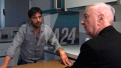 El actor recibió al periodista en su casa de Nordelta
