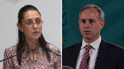 """Del cubrebocas al """"incremento de contagios"""": se acumulan desacuerdos entre Sheinbaum y López-Gatell"""