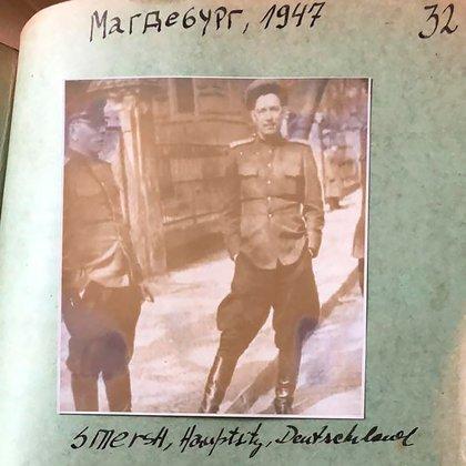 Un agente del Smersh en Alemania del Este, foto del informe del Smersh