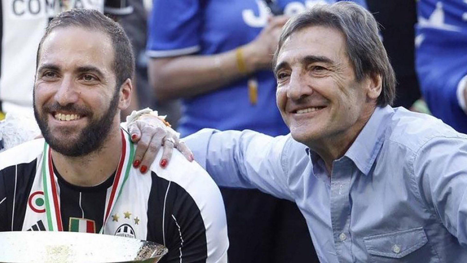 Gonzalo Higuain junto a su padre Jorge Higuain