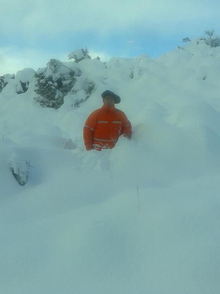 Más de metro y medio de nieve acumulada