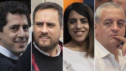 """""""Wado"""" de Pedro, Juan Cabandié, Victoria Donda y Horacio Pietragalla, todos funcionarios del nuevo Gobierno."""