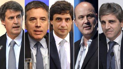 Alfonso Prat Gay, Nicolás Dujovne, Hernán Lacunza, Federico Sturzenegger y Luis Caputo