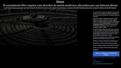 El blackout o apagón de Wikipedia del 4 de julio pasado