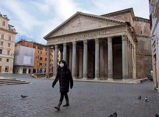 Roma, vacía por la pandemia de coronavirus (Foto: Carlos Brigo/amb)