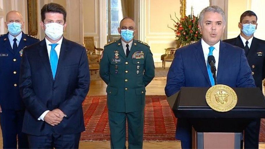 Iván Duque posesiona a Diego Molano como nuevo ministro de Defensa. Foto: Presidencia.