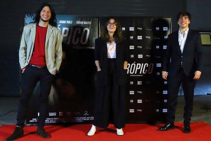 Mauricio Paniagua, Agustín Sullivan y Andrea Bonelli