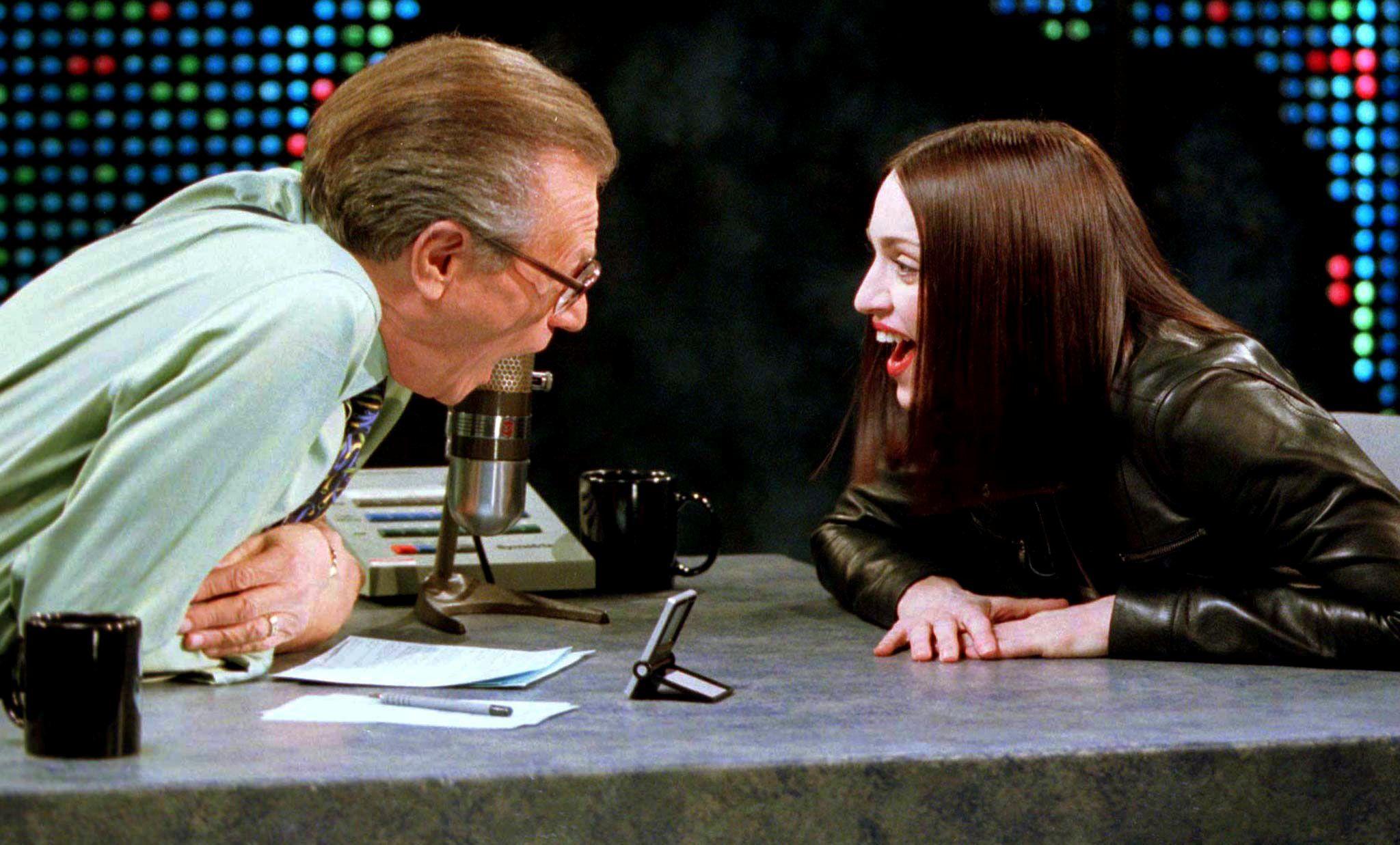 Con Madonna, 18 de enero de 1999
