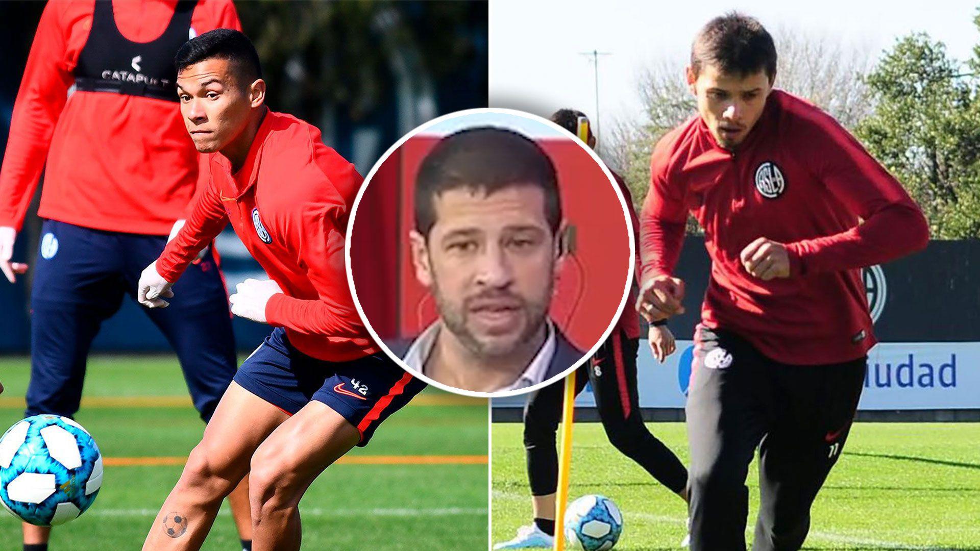 Sebastián Dominguez vio el vídeo de la patada de Angel Romero que lesionó a Herrera en San Lorenzo