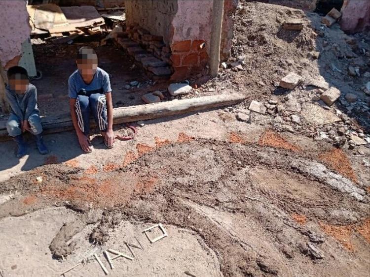 La tarea que hizo Luciano de 11 años. Vive en un asentamiento en Agrelo (Luján de Cuyo).