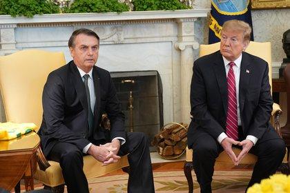 Donald Trump y Jair Bolsonaro durante una reunión mantenida en la Casa Blanca