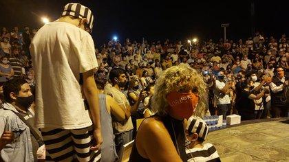 Mónica Frade participó junto a su par Waldo Wolff de un acto en Clorinda para reclamar la apertura del bloqueo sanitario