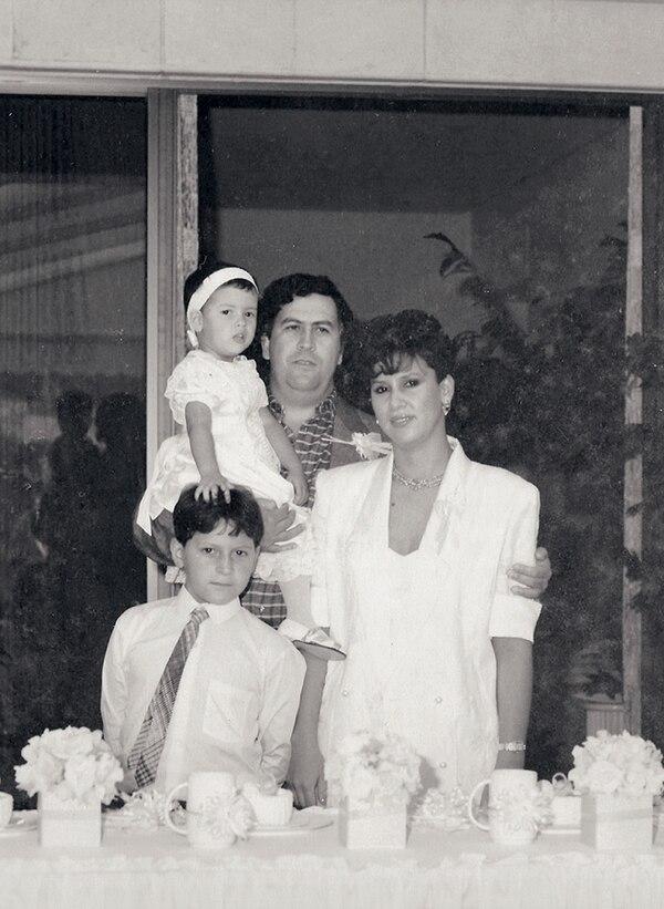 La familia Escobar antes de la muerte y el exilio (Foto: archivo Atlántida)