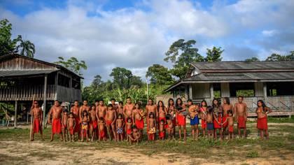 El pueblo de Manilha en la reserva indígena Waiapi, en el estado de Amapa, Brasil (Apu Gomes / AFP)