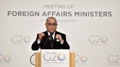 El canciller argentino, Jorge Faurie